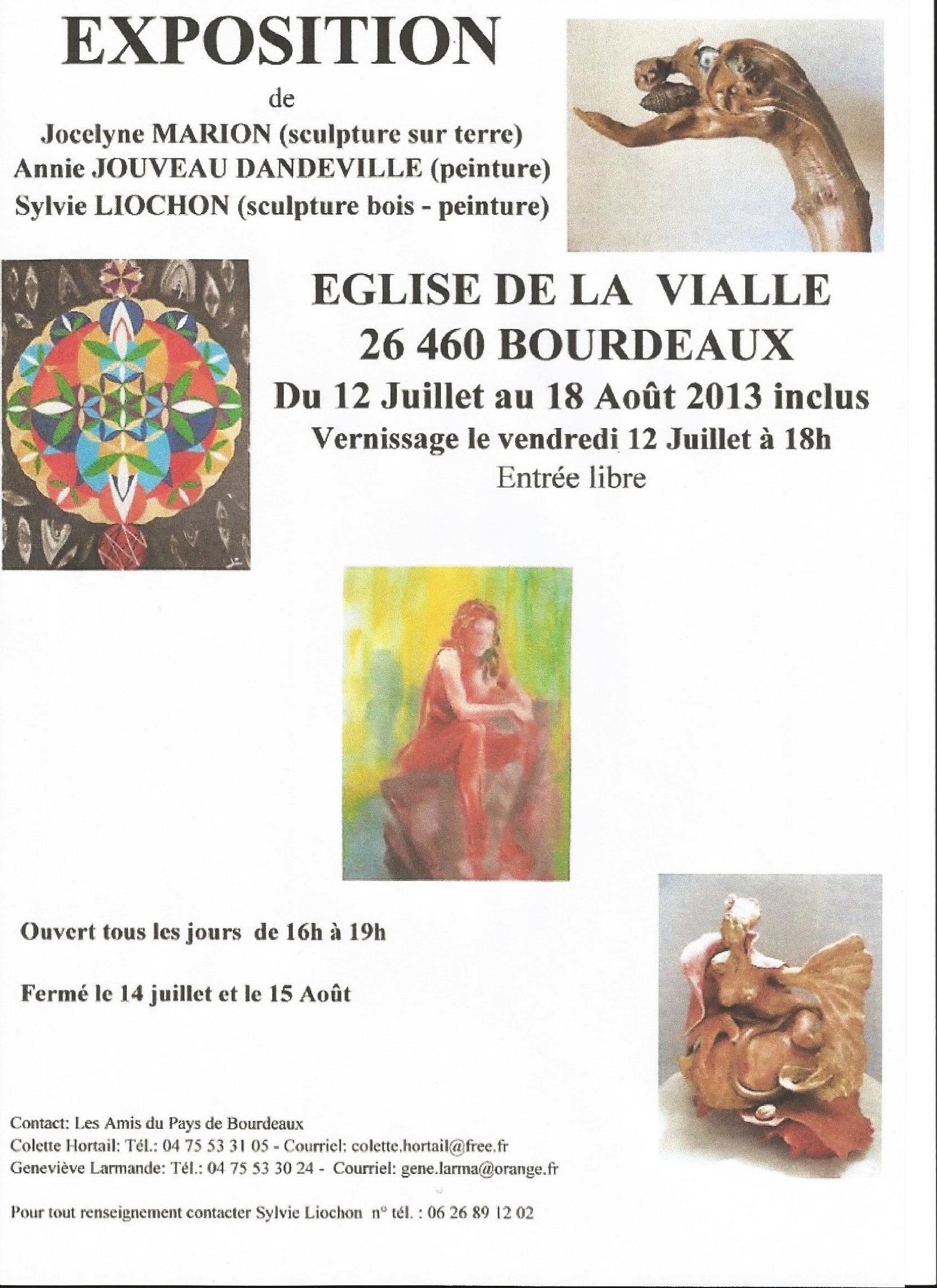 Exposition Eglise de la Vialle à Bourdeaux